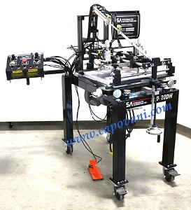 "SYSTEMATIC AUTOMATION DUAL HEAD SCREEN PRINTER 12"" X 18"" AREA"