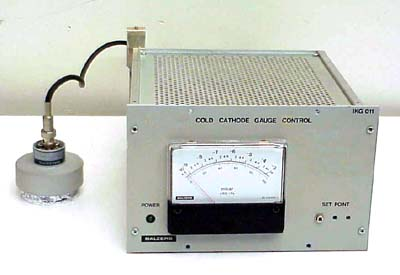 BALZERS COLD CATHODE GAUGE CONTROLLER