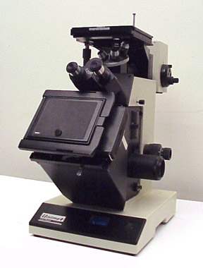 UNITRON INVERTED METALLURGICAL MICROSCOPE, BRIGHTFIELD & DARKFIELD