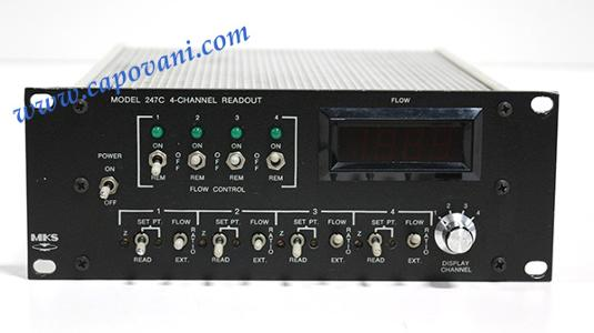 MKS 4 CHANNEL MFC POWER SUPPLY AND READOUT