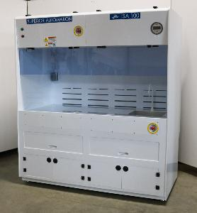 SUPERIOR AUTOMATION LAB FUME HOOD WORK STATION 6'